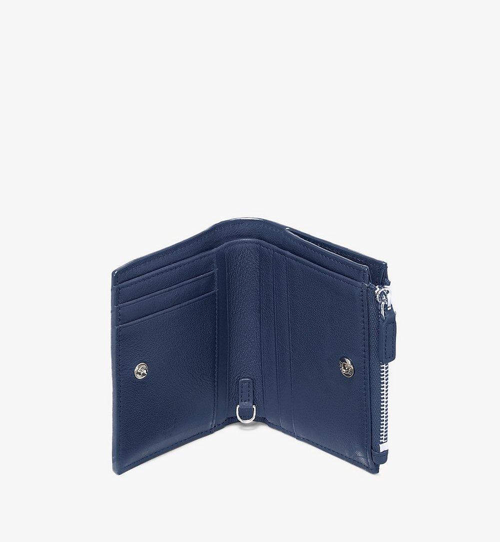 MCM Klara Two-Fold Wallet in Monogram Leather Navy MYS9AKM13VA001 Alternate View 2