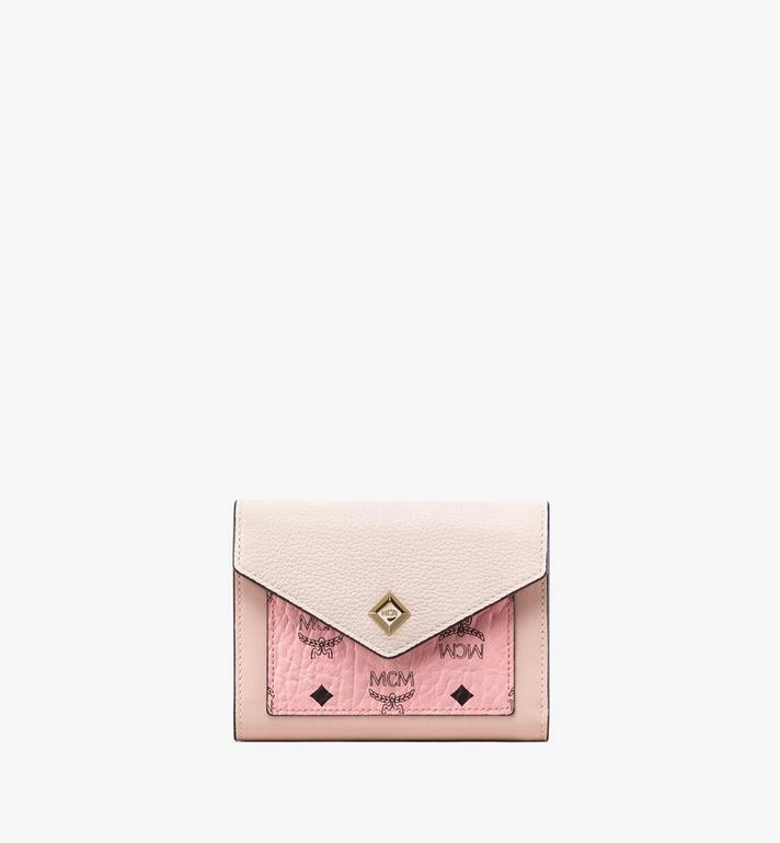MCM Love Letter Three-Fold Wallet in Colorblock Visetos Alternate View