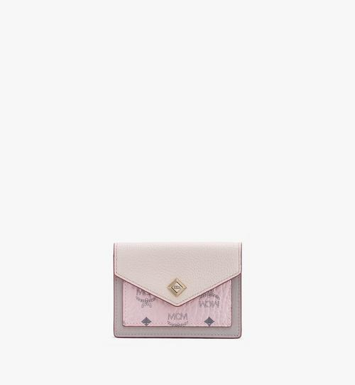Love Letter Mini Wallet in Color Block Leather