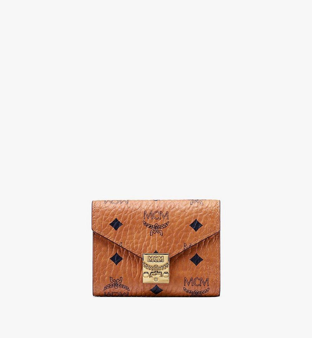 MCM Patricia dreifach gefaltete Brieftasche in Visetos Cognac MYS9APA13CO001 Noch mehr sehen 1