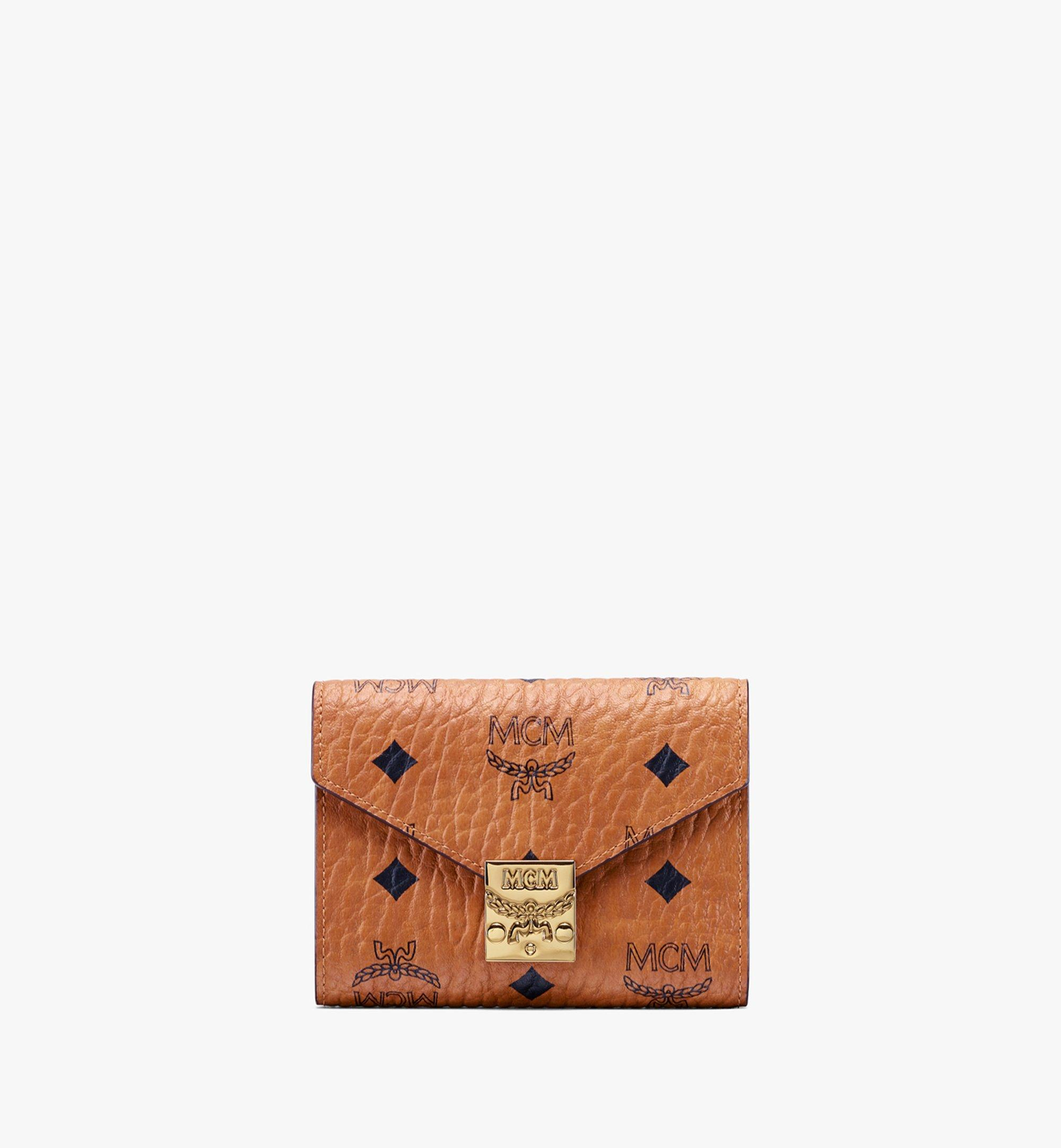 MCM Patricia Three-Fold Wallet in Visetos Cognac MYS9APA13CO001 Alternate View 1