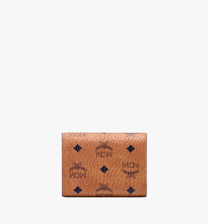 MCM Patricia Three-Fold Wallet in Visetos Cognac MYS9APA13CO001 Alternate View 2