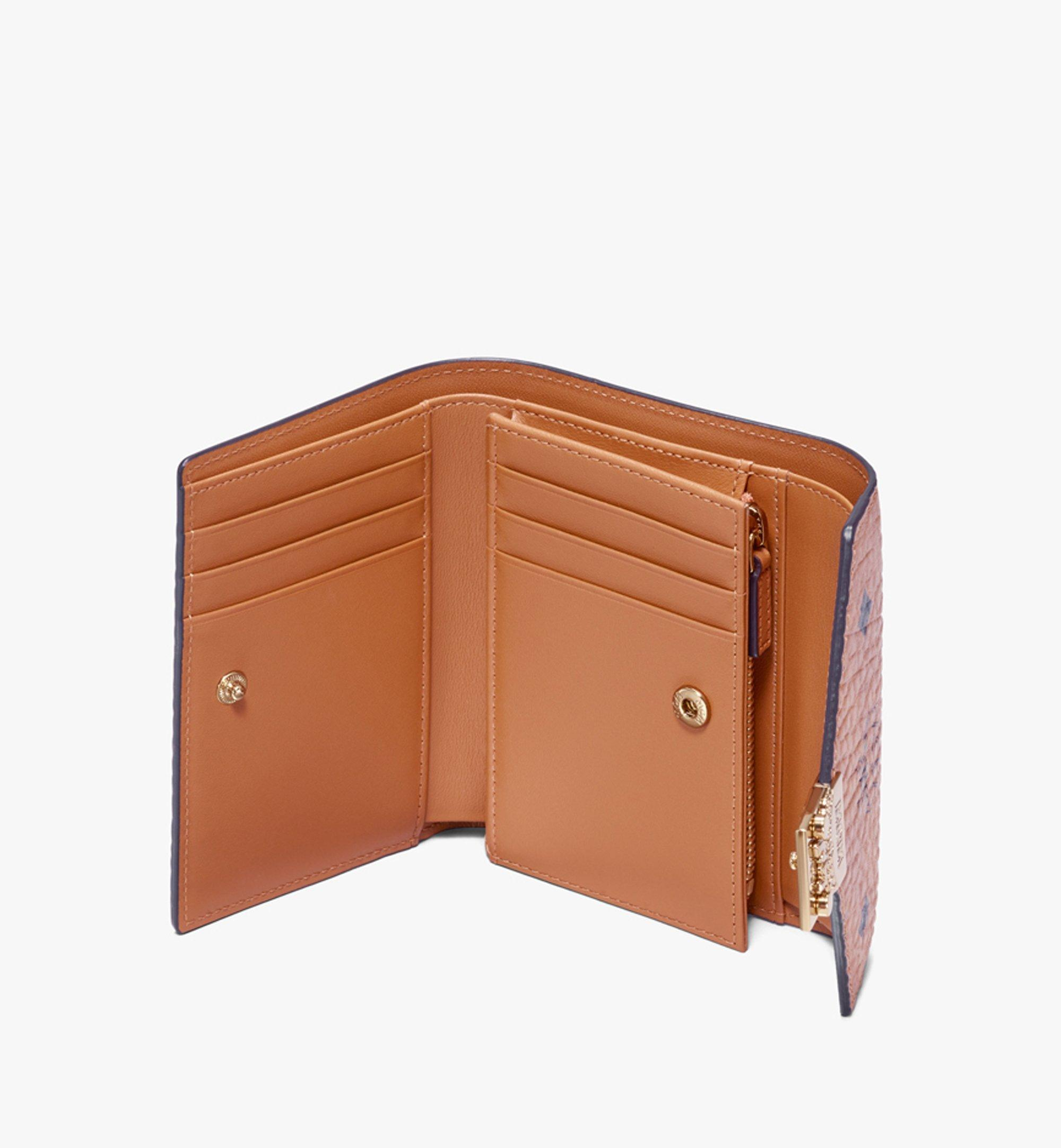 MCM Patricia Three-Fold Wallet in Visetos Cognac MYS9APA13CO001 Alternate View 2