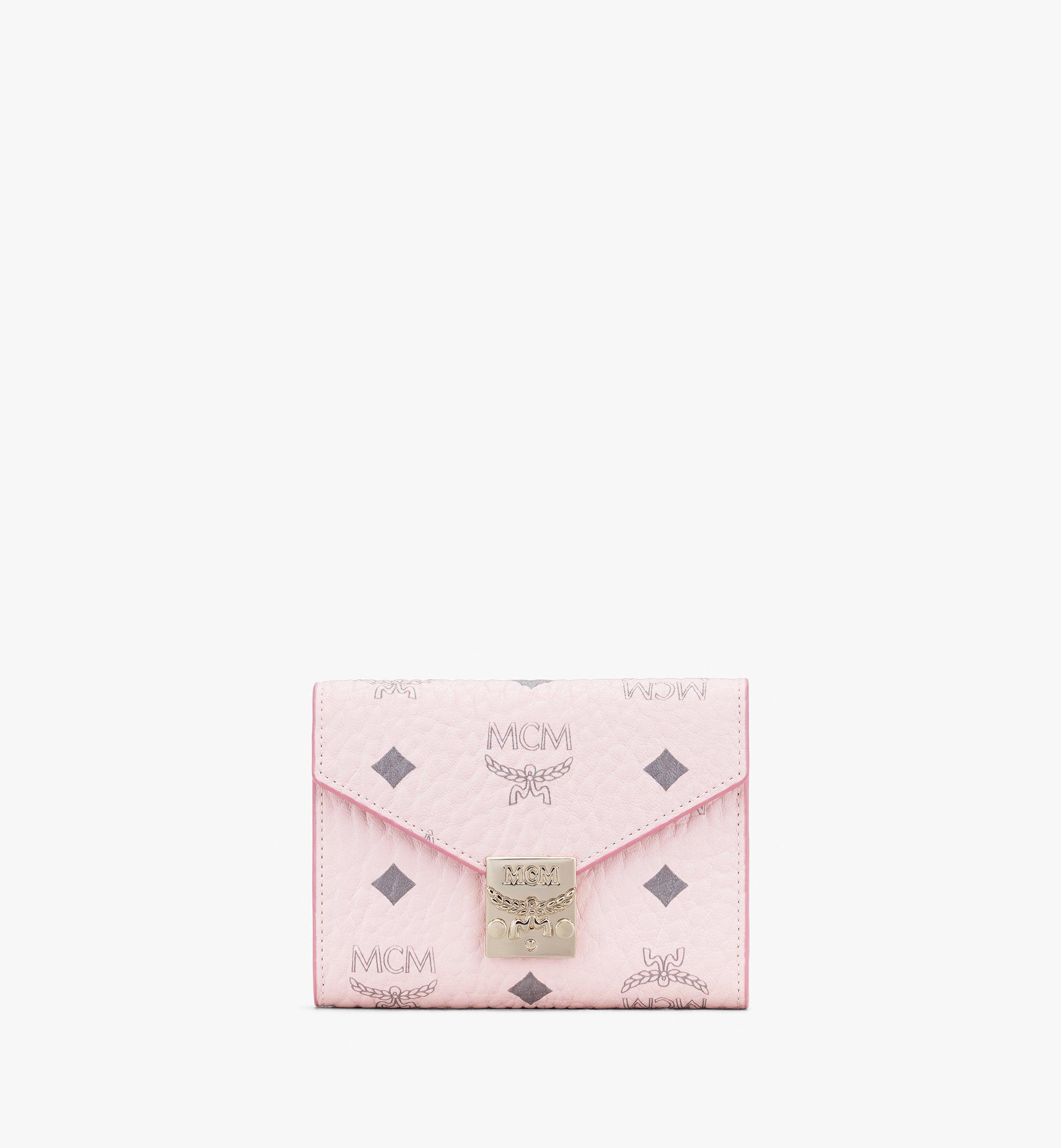 MCM Patricia Trifold Wallet in Visetos Pink MYS9APA13QH001 Alternate View 1