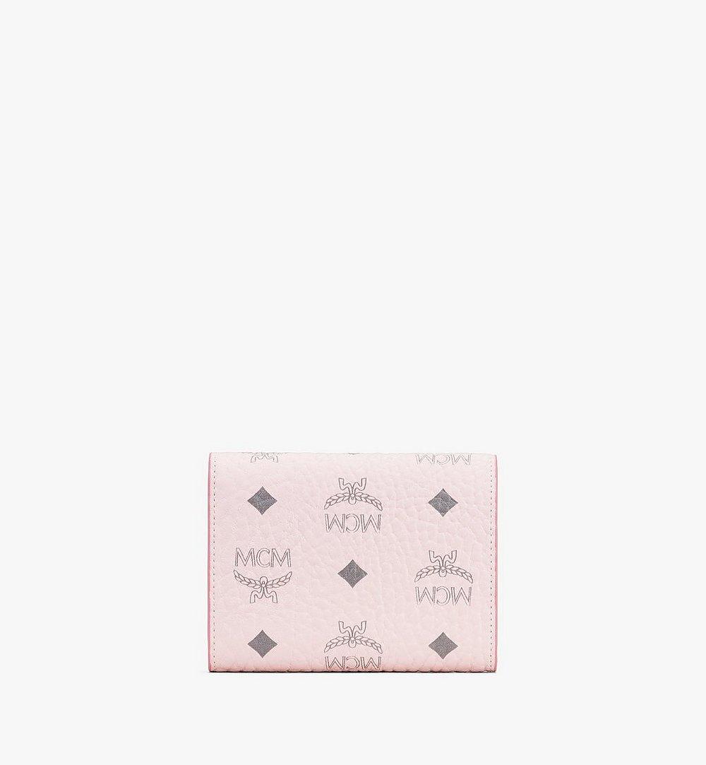 MCM Visetos 皮革 Patricia 三折錢包 Pink MYS9APA13QH001 更多視圖 1