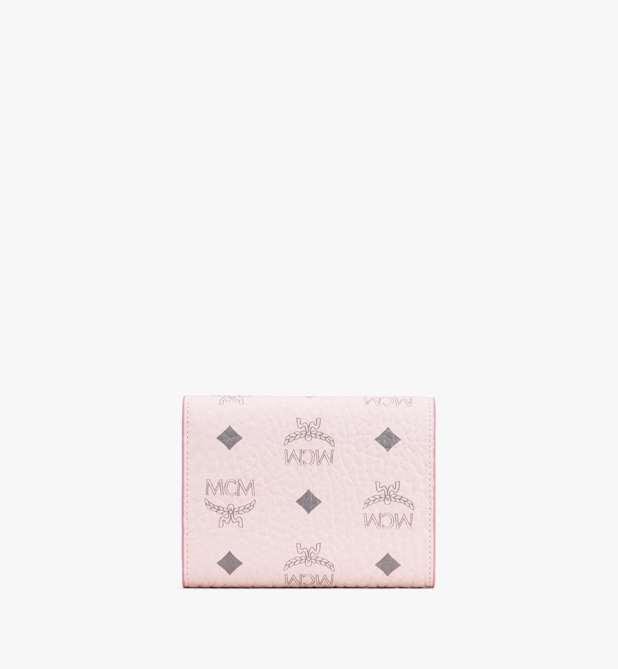 MCM Patricia Trifold Wallet in Visetos Pink MYS9APA13QH001 Alternate View 2