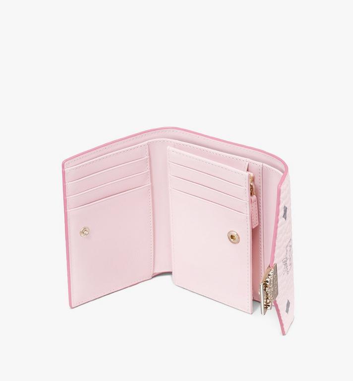 MCM Patricia Trifold Wallet in Visetos Pink MYS9APA13QH001 Alternate View 3