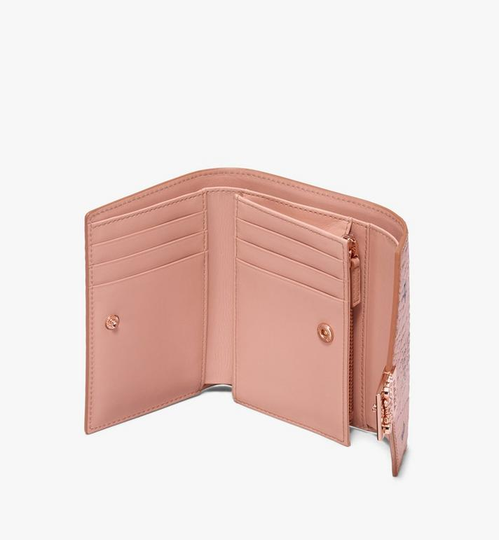 MCM Patricia Three-Fold Wallet in Visetos Alternate View 3