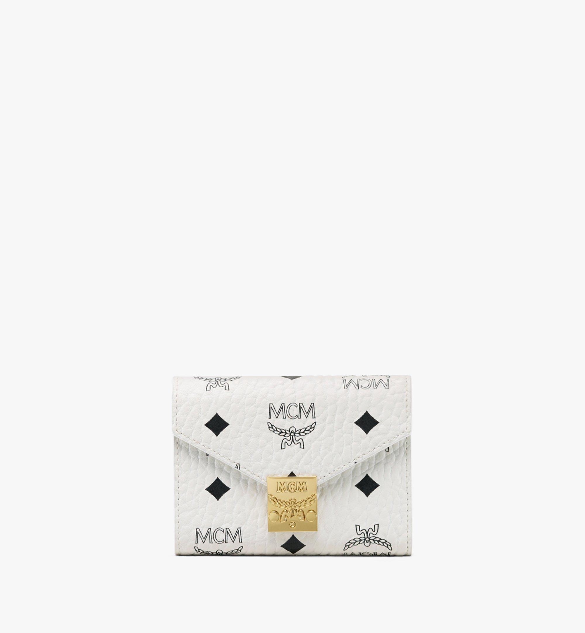 MCM Patricia Three-Fold Wallet in Visetos White MYS9APA13WT001 Alternate View 1