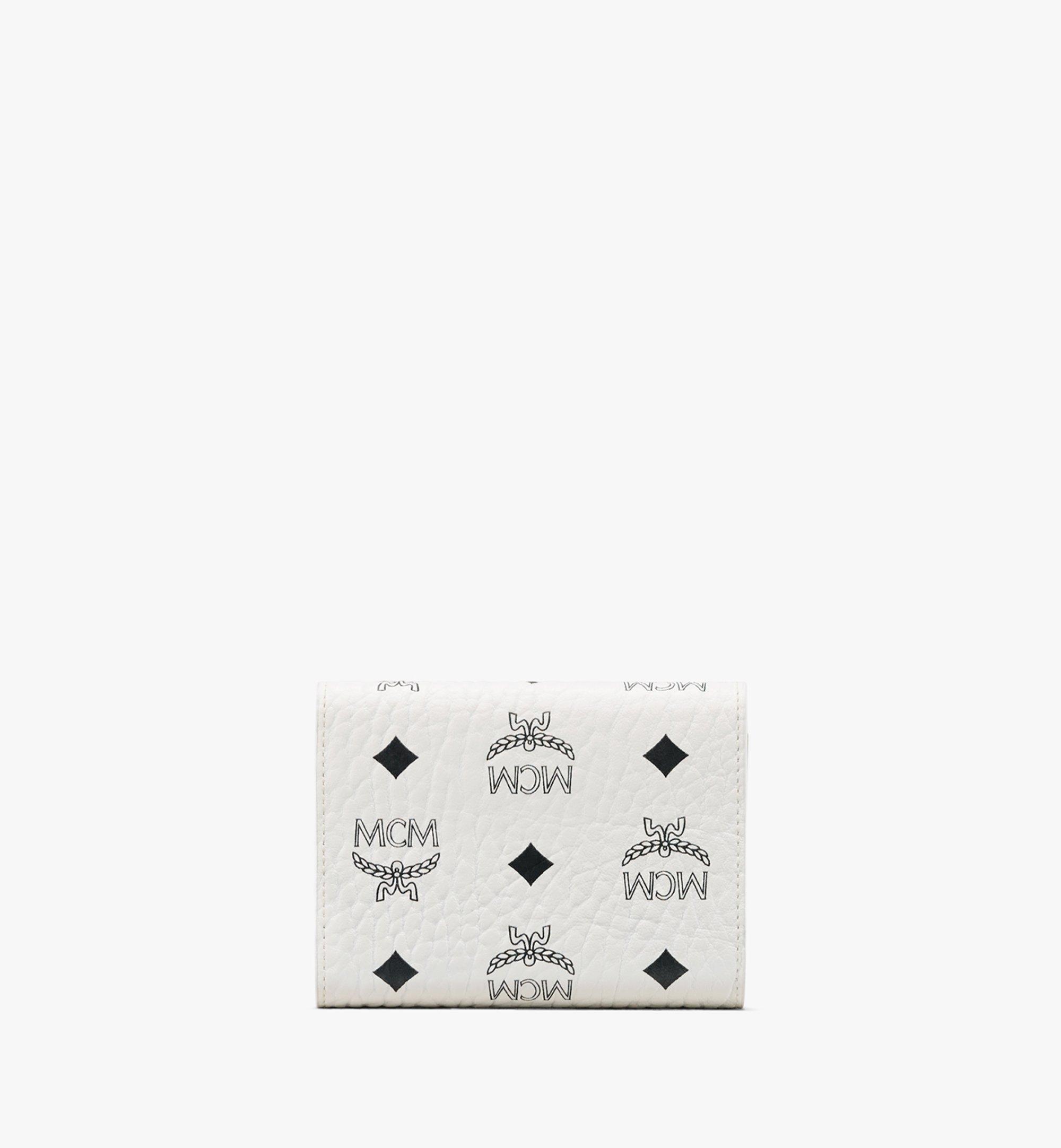 MCM Patricia Three-Fold Wallet in Visetos White MYS9APA13WT001 Alternate View 2