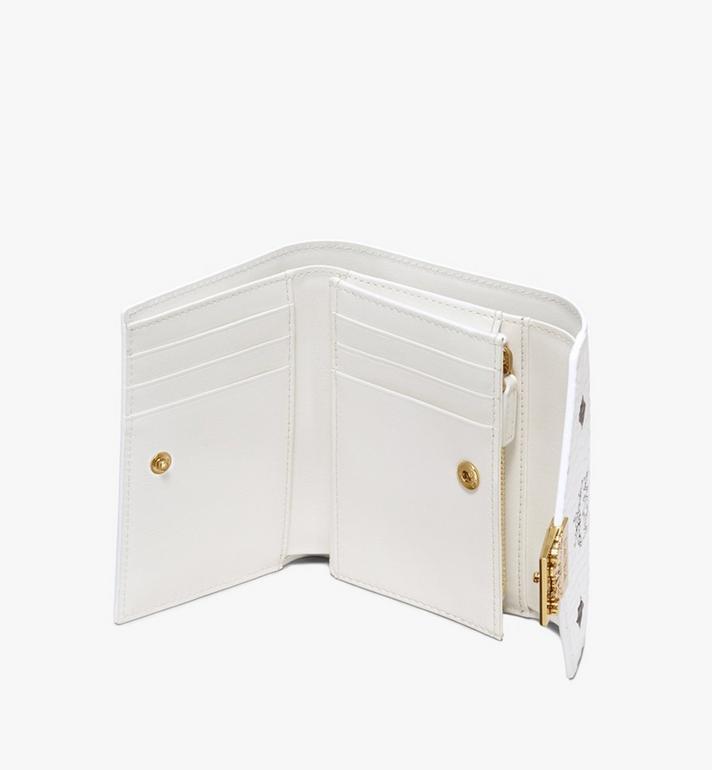 MCM Patricia Three-Fold Wallet in Visetos White MYS9APA13WT001 Alternate View 3