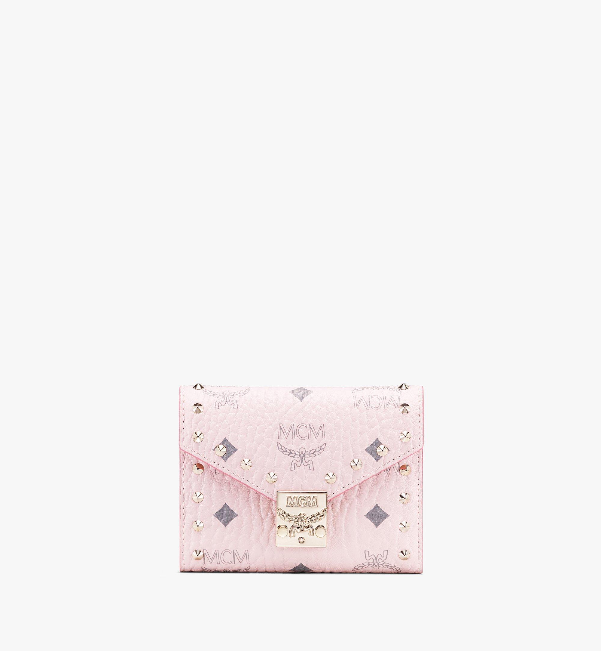 MCM Visetos 皮革的 Patricia 三折式錢包 Pink MYS9APA31QH001 更多視圖 1