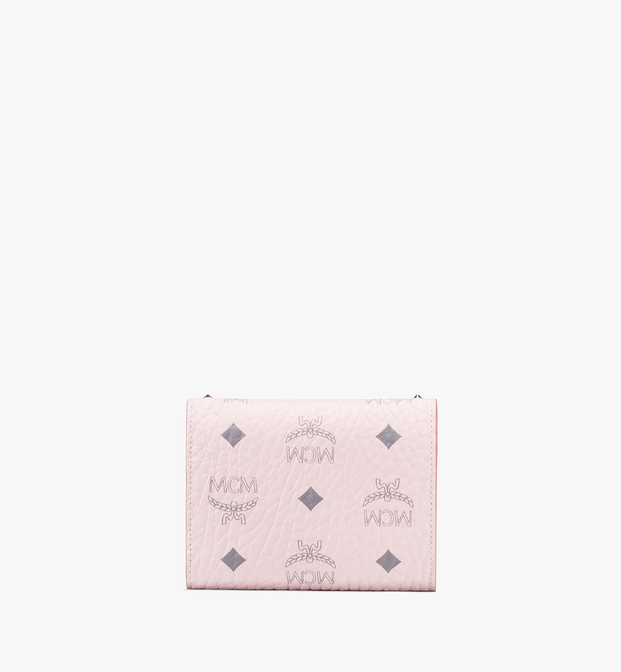 MCM Patricia Trifold Wallet in Studded Visetos Pink MYS9APA31QH001 Alternate View 1