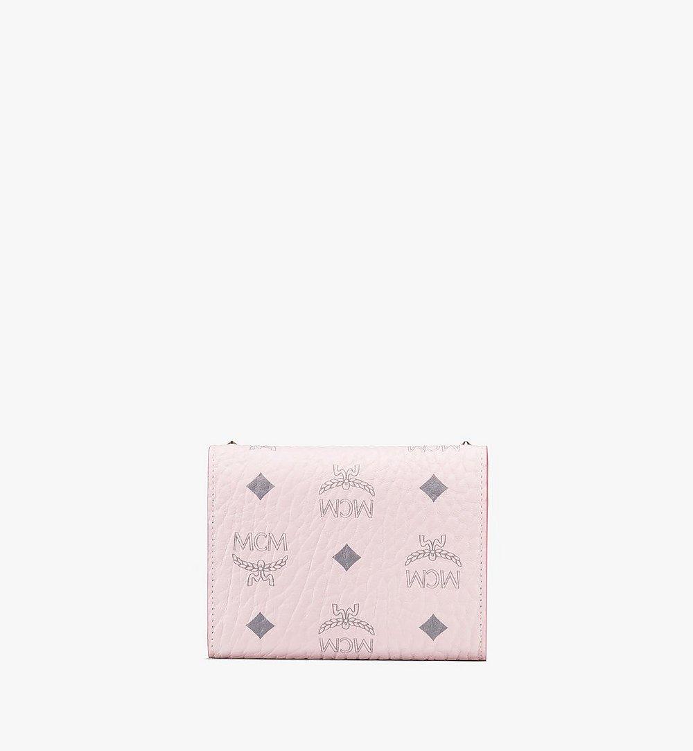 MCM กระเป๋าสตางค์พับสามทบ Patricia ลาย Visetos แต่งหมุด Pink MYS9APA31QH001 มุมมองอื่น 1