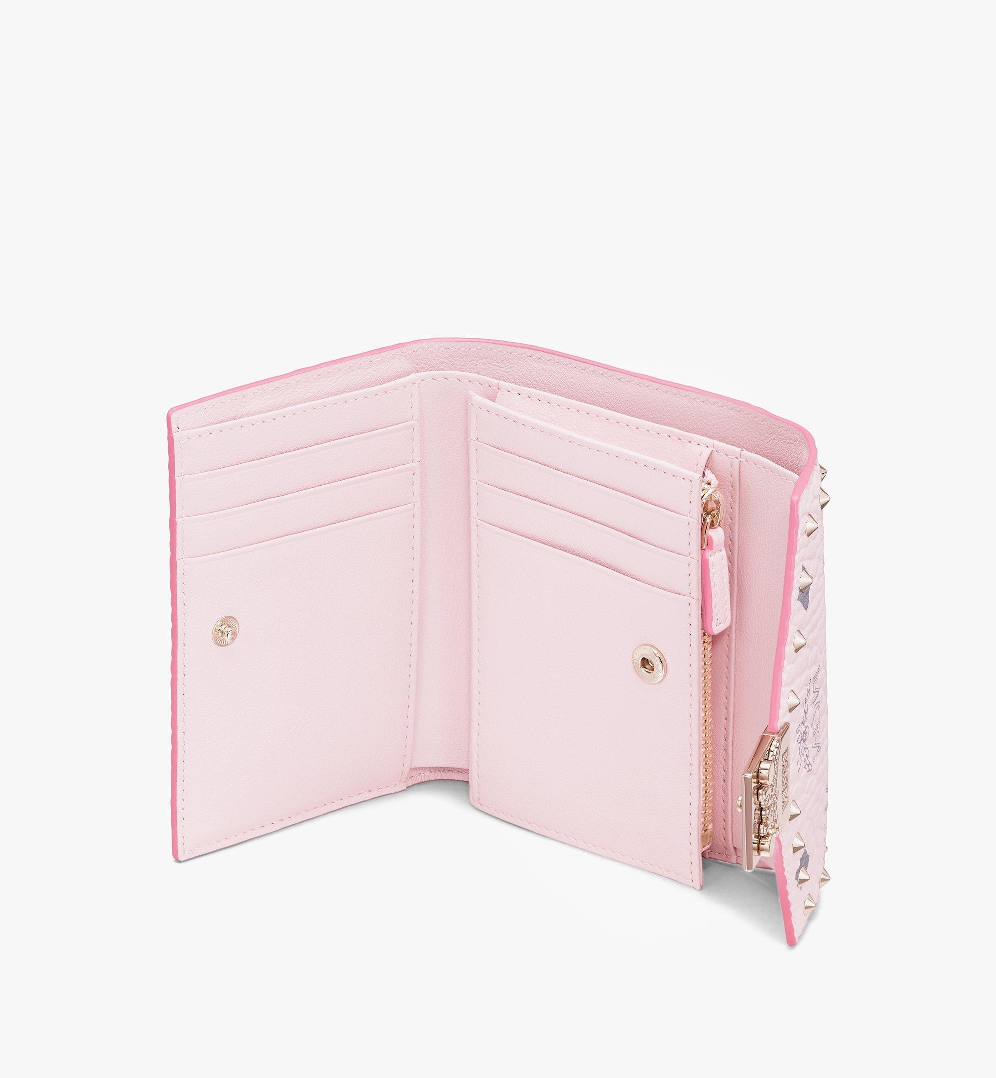 MCM Visetos 皮革的 Patricia 三折式錢包 Pink MYS9APA31QH001 更多視圖 2