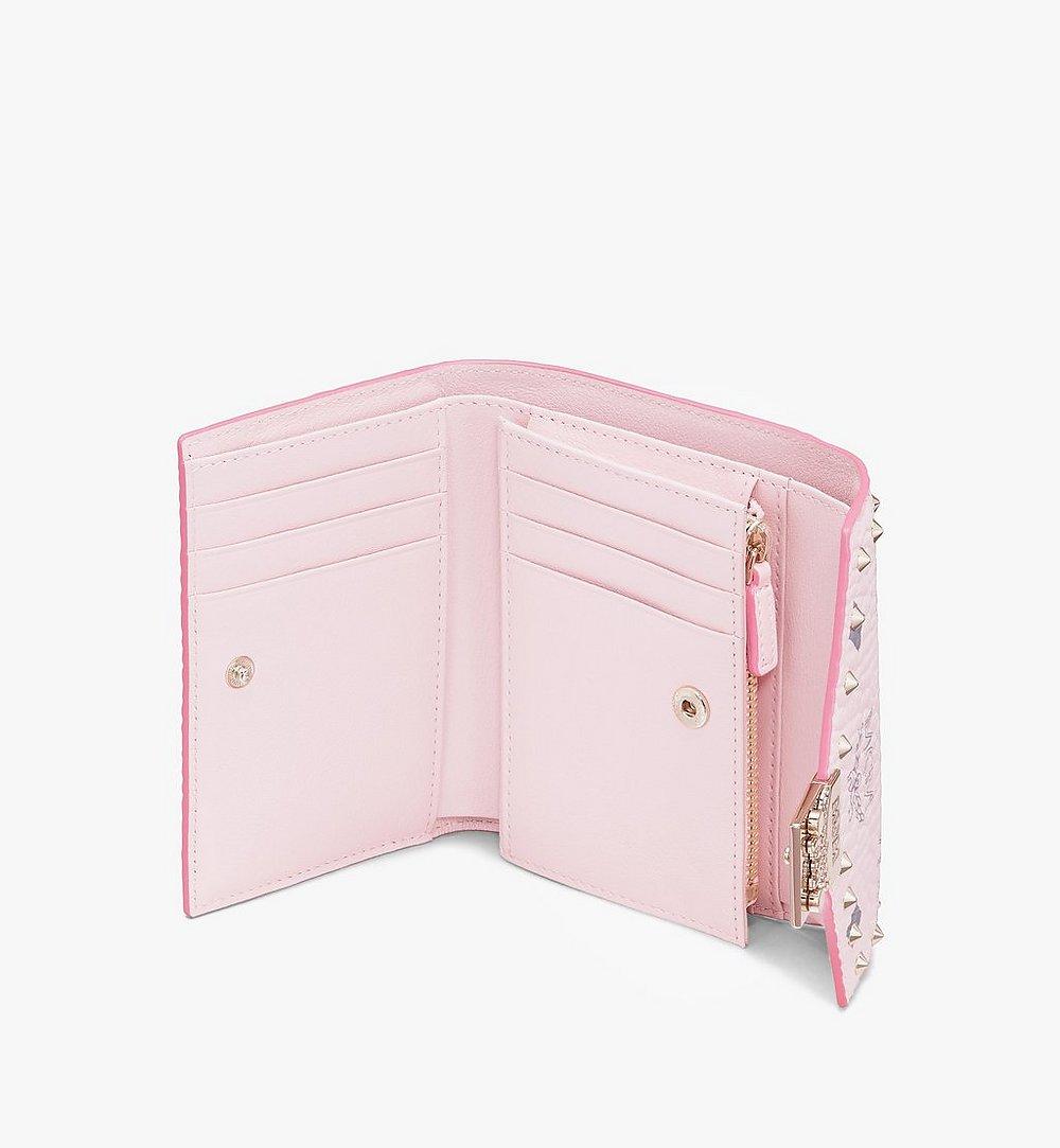 MCM กระเป๋าสตางค์พับสามทบ Patricia ลาย Visetos แต่งหมุด Pink MYS9APA31QH001 มุมมองอื่น 2