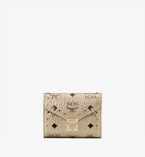 Patricia Trifold Wallet in Studded Visetos