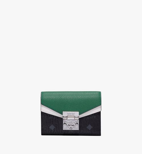 Patricia Three-Fold Wallet in Colorblock Leather