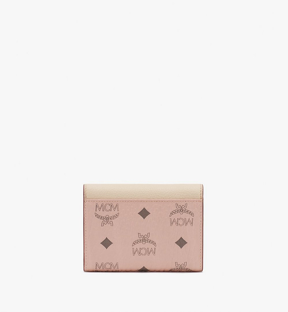 MCM Patricia Trifold Wallet in Color Block Leather Beige MYS9APA36IH001 Alternate View 1