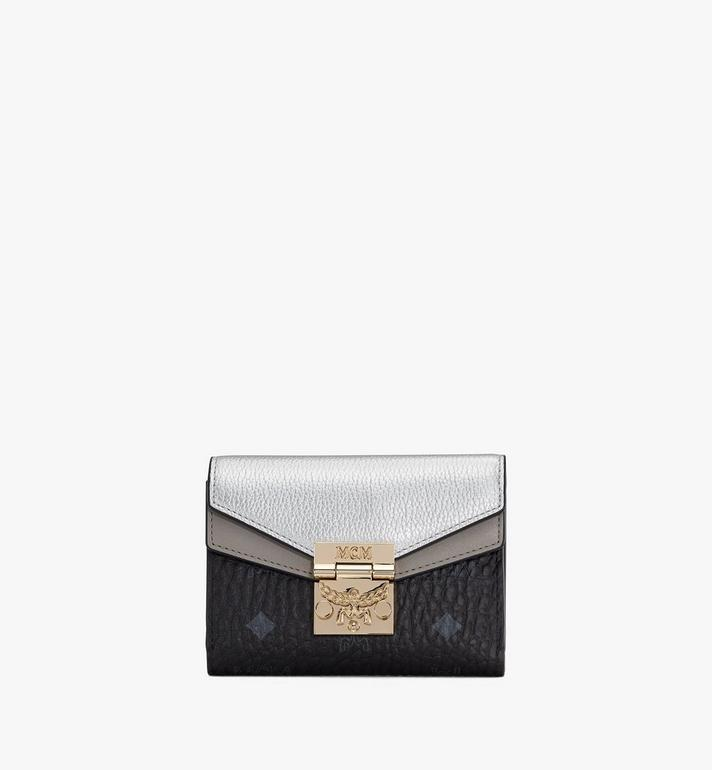 MCM Patricia Trifold Wallet in Color Block Leather Alternate View