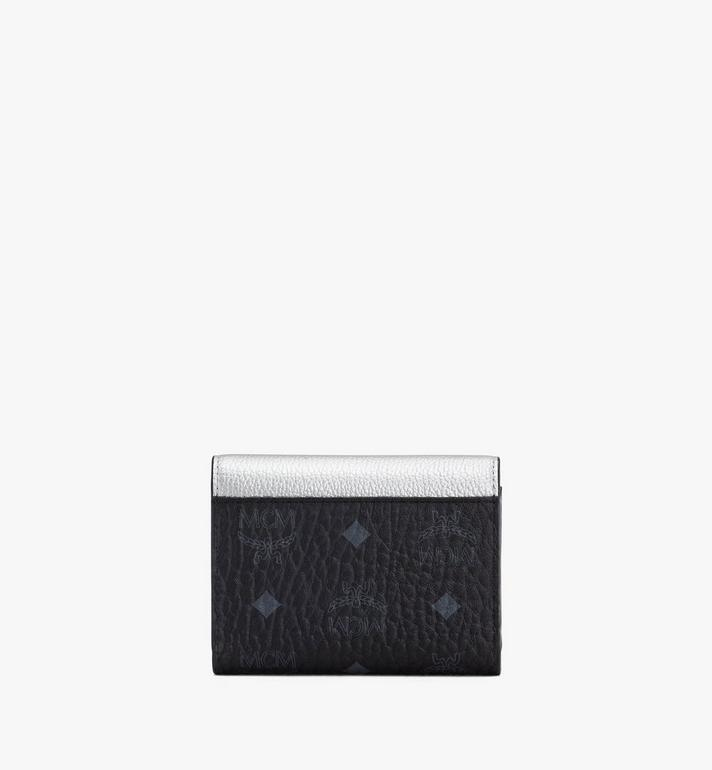 MCM Patricia Trifold Wallet in Color Block Leather Silver MYS9APA36SE001 Alternate View 2