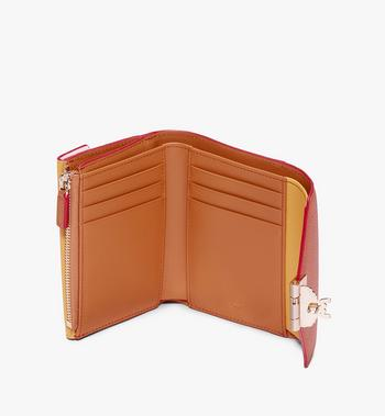 MCM Patricia Three-Fold Wallet in Colorblock Leather Alternate View 3
