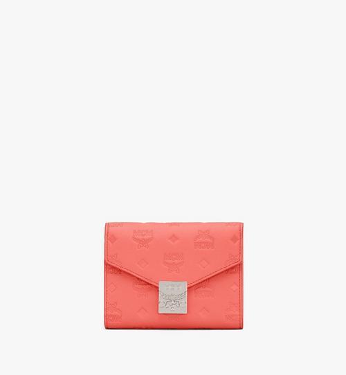 Dreifach gefaltete Patricia Brieftasche aus Leder mit Monogramm