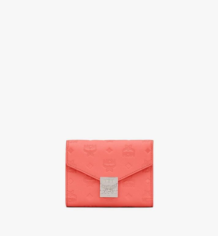 MCM Dreifach gefaltete Patricia Brieftasche aus Leder mit Monogramm Alternate View