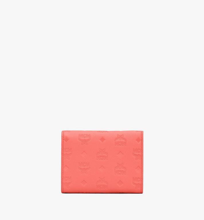 MCM Dreifach gefaltete Patricia Brieftasche aus Leder mit Monogramm Pink MYS9APA54O3001 Alternate View 2