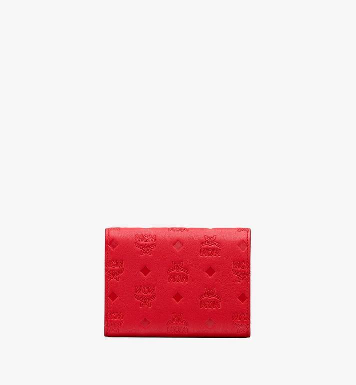MCM Patricia dreifach gefaltete Brieftasche aus Leder mit Monogramm Alternate View 2