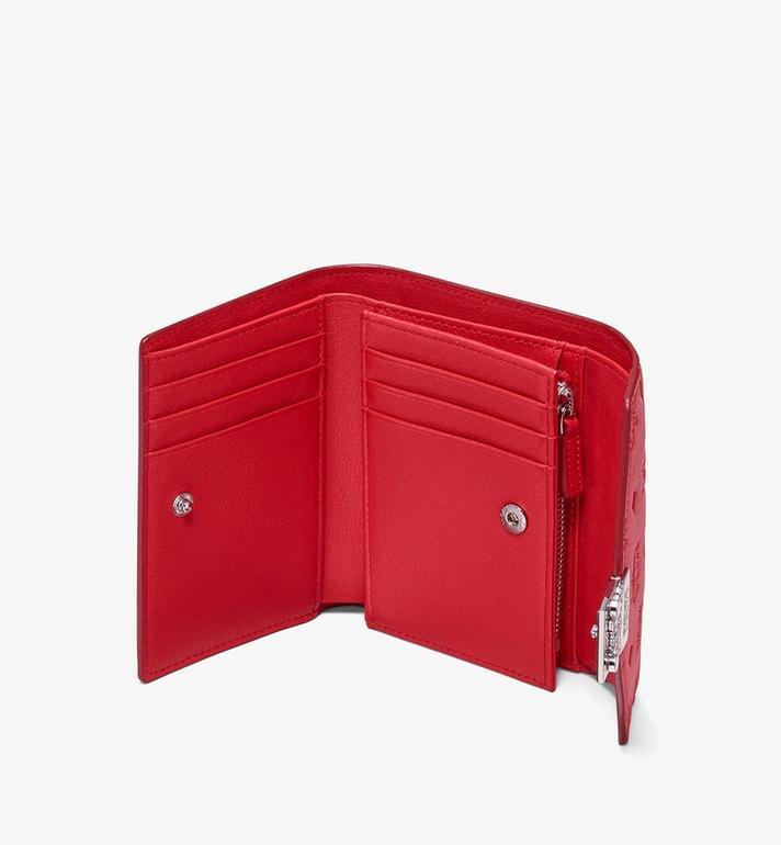 MCM Patricia dreifach gefaltete Brieftasche aus Leder mit Monogramm Alternate View 3