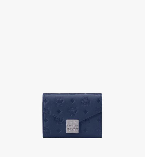 Patricia dreifach gefaltete Brieftasche aus Leder mit Monogramm