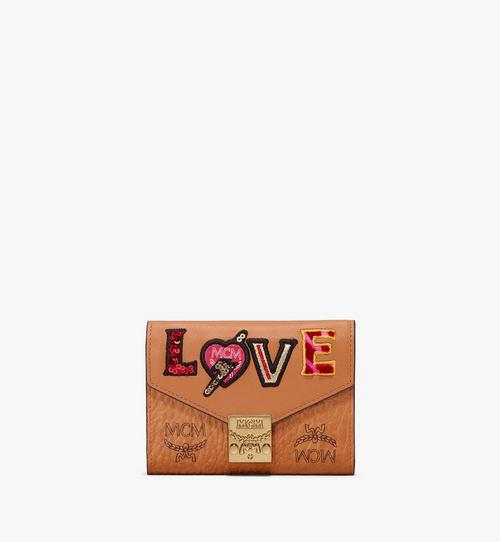 Patricia Three-Fold Wallet in Love Patch Visetos