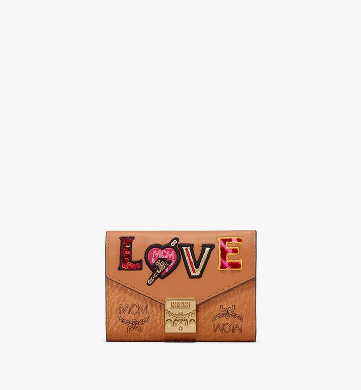 MCM Patricia Three-Fold Wallet in Love Patch Visetos Alternate View