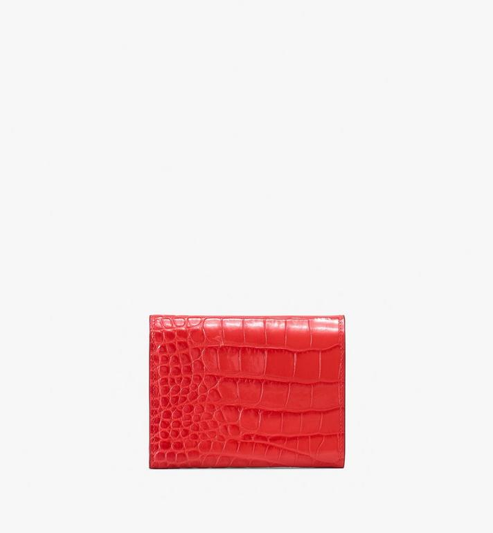 MCM Patricia Three-Fold Wallet in Embossed Crocodile  MYS9APA64RU001 Alternate View 2