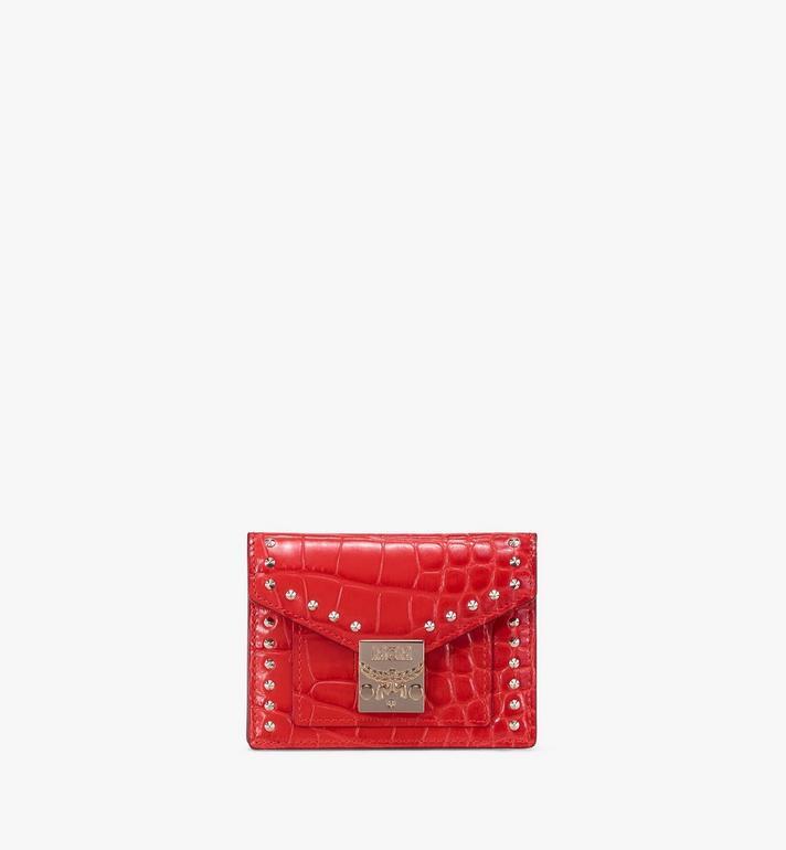 MCM Patricia Mini Wallet in Embossed Crocodile Alternate View