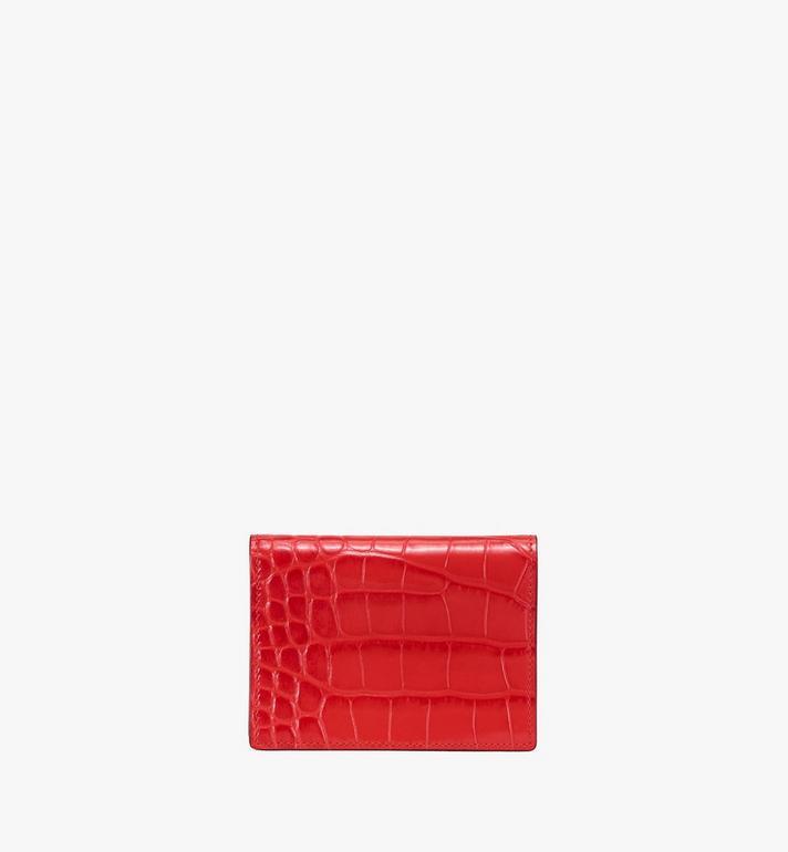 MCM Patricia Mini Wallet in Embossed Crocodile Red MYS9APA65RU001 Alternate View 2