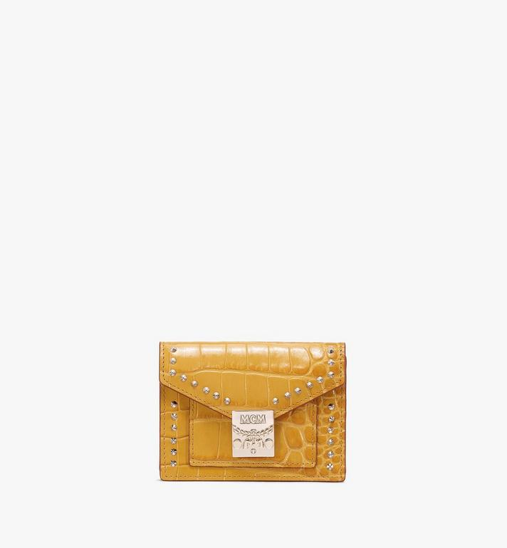 MCM Patricia Mini Wallet in Embossed Crocodile Alternate View