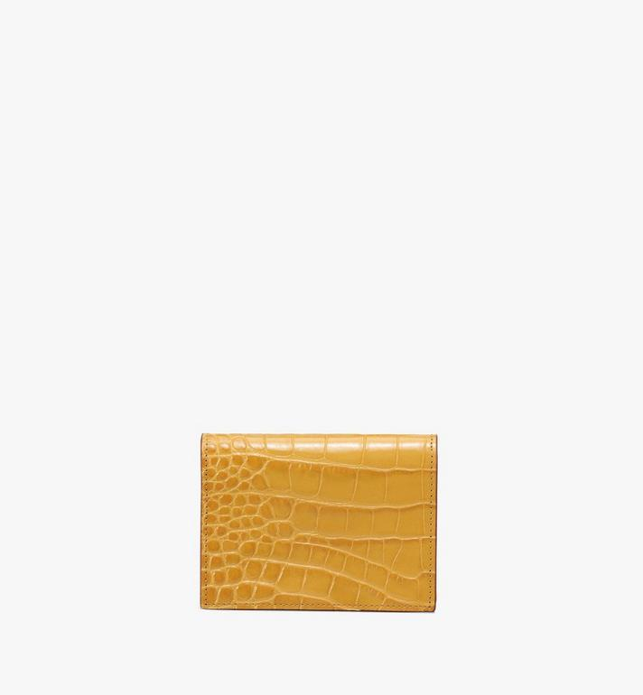MCM Patricia Mini Wallet in Embossed Crocodile Yellow MYS9APA65YJ001 Alternate View 2