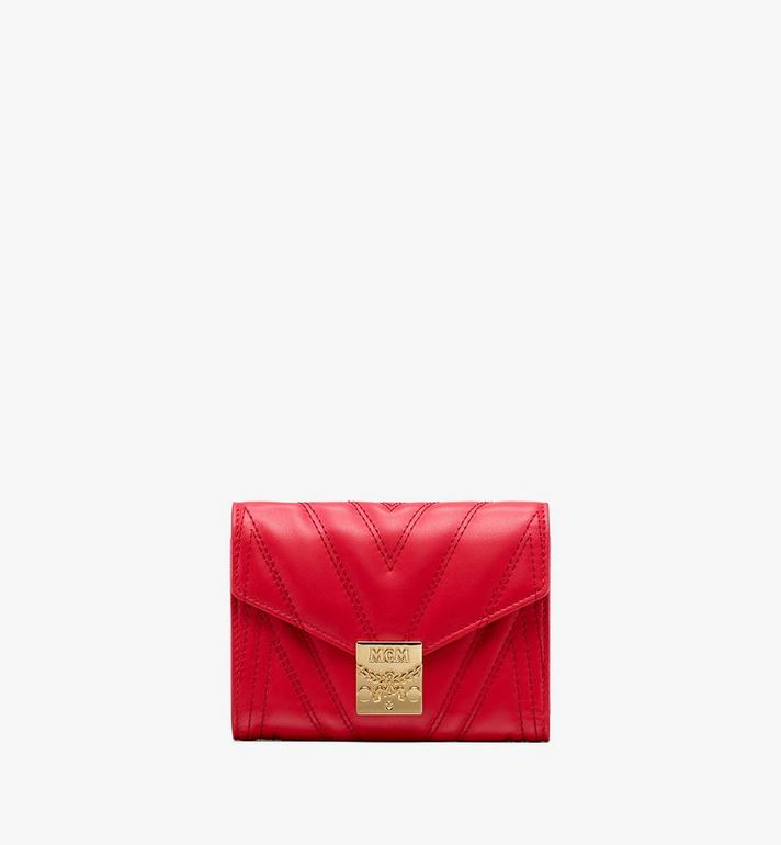 MCM Patricia Three-Fold Wallet in Quilted Leather Alternate View