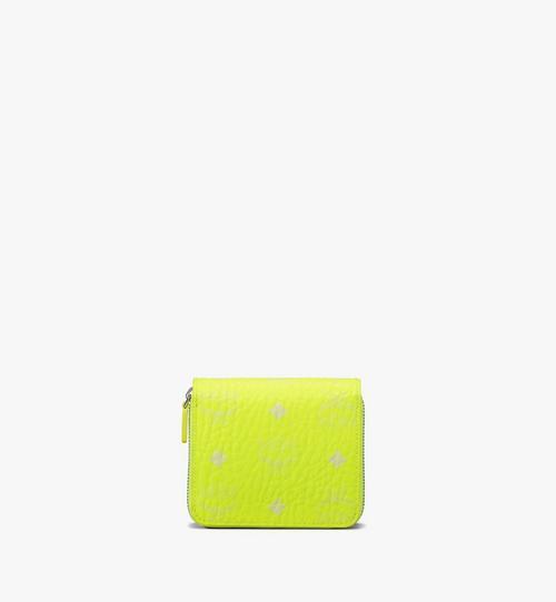 Mini portefeuille zippé en Visetos