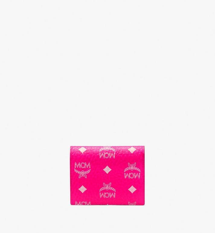 MCM Two-Fold Flat Wallet in Visetos Pink MYS9AVI62QP001 Alternate View 2