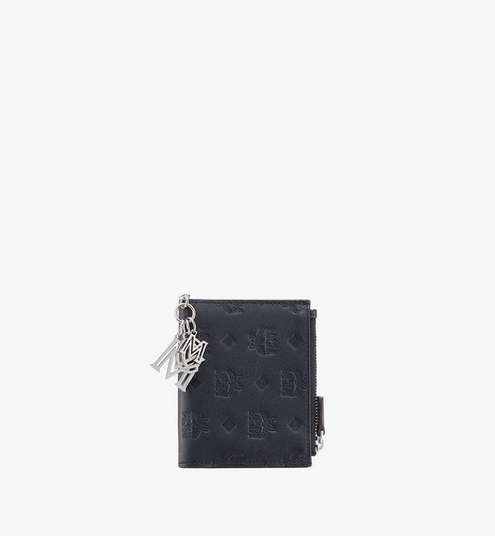 MCM Two Fold Flat Wallet in Monogram Leather Charm MYS9SKM13BK001 AlternateView