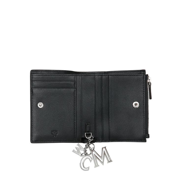 MCM Two Fold Flat Wallet in Monogram Leather Charm MYS9SKM13BK001 AlternateView4