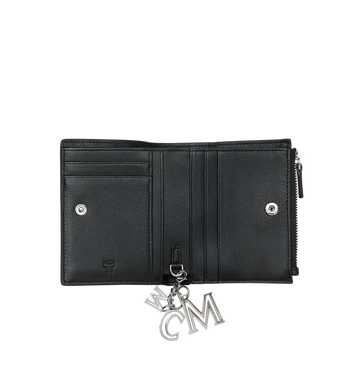 MCM Two Fold Flat Wallet in Monogram Leather Charm Alternate View 4