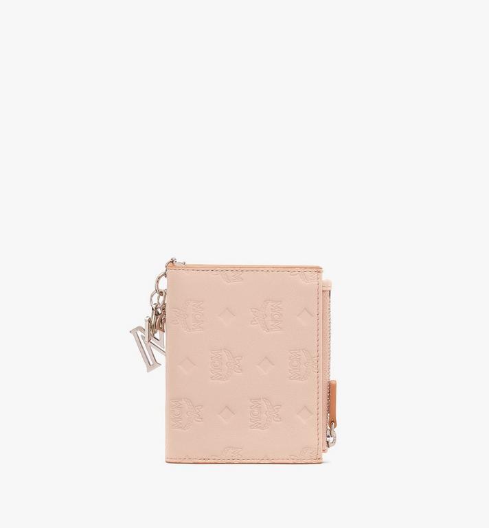 MCM Klara Two Fold Wallet in Monogram Leather Alternate View