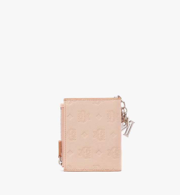 MCM Klara Two Fold Wallet in Monogram Leather Beige MYS9SKM13II001 Alternate View 2