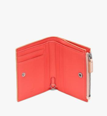 MCM Klara Two Fold Wallet in Monogram Leather Beige MYS9SKM13II001 Alternate View 3