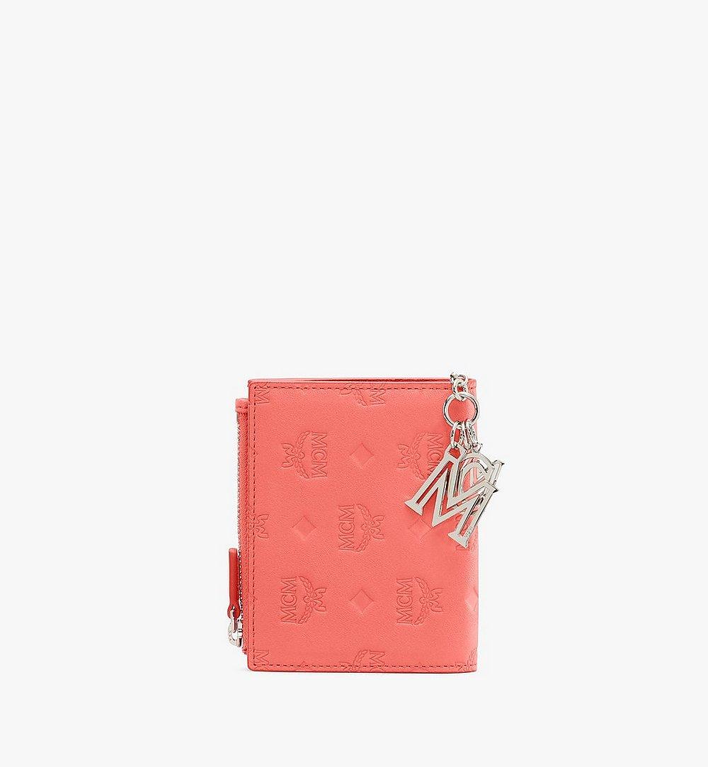 MCM Klara Two Fold Wallet in Monogram Leather Red MYS9SKM13O3001 Alternate View 1