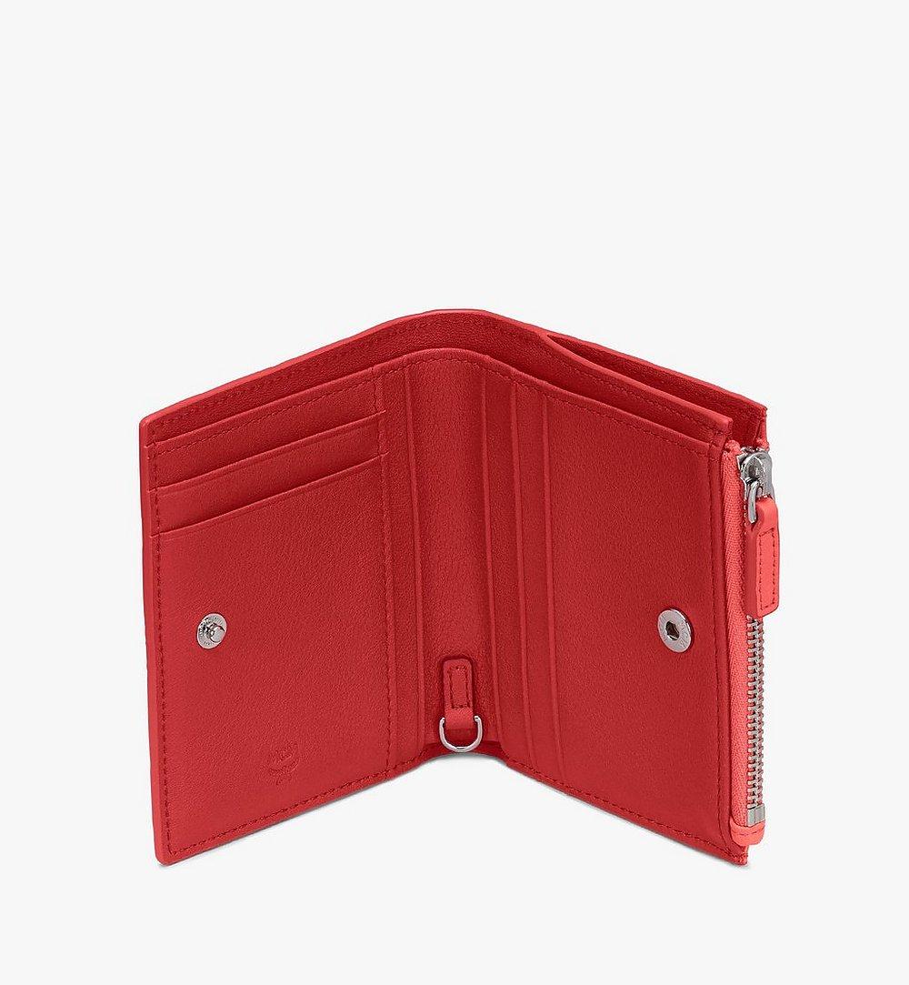 MCM Klara Two Fold Wallet in Monogram Leather Red MYS9SKM13O3001 Alternate View 2